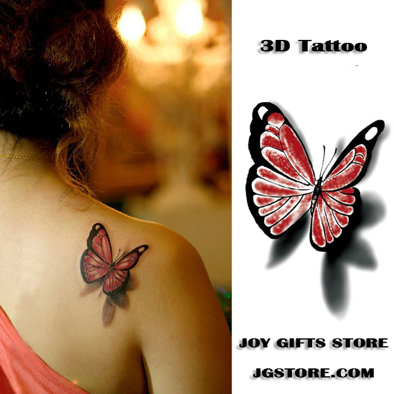 3d Butterfly Temporary Tattoo Body Art Stickers Joy Gifts Store