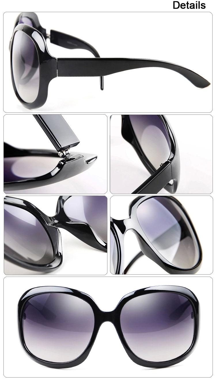 Purple Wine White Brown Black Retro Oversized Sunglasses Details