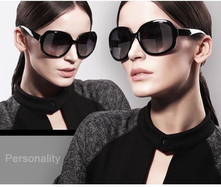 Purple Wine White Brown Black Retro Oversized Sunglasses model 1