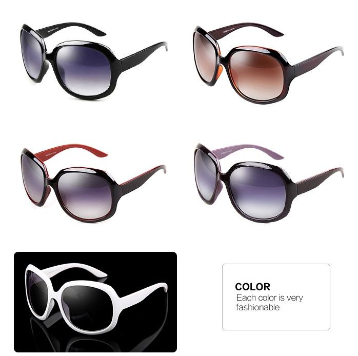 Purple Wine White Brown Black Retro Oversized Sunglasses model