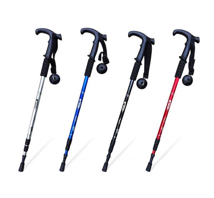 Outdoor Trekking Pole Alpenstock Adjustable Walking Stick Hiking Accessory Hot
