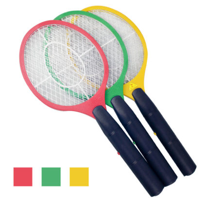 Color Optional Handheld Electric Insect Bug Pest Mosquito Zapper Swatter  Racket Useful