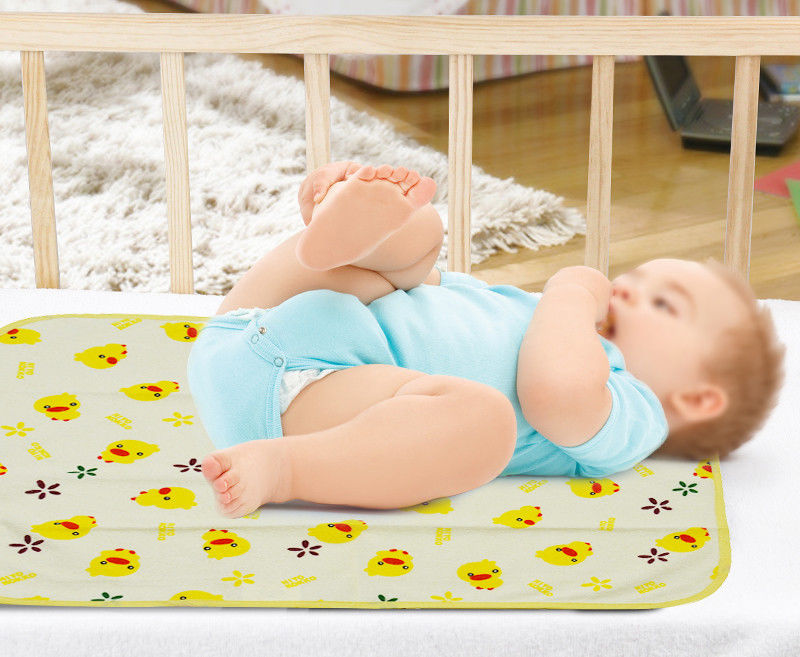 Infant Cotton Urine Mat Cover Portable Changing Pad Protector for Baby Kids