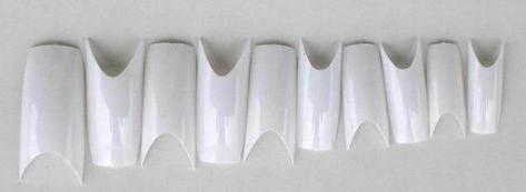 500pcs Clear Natural White Deep Smile Square Acrylic False Nail Tips