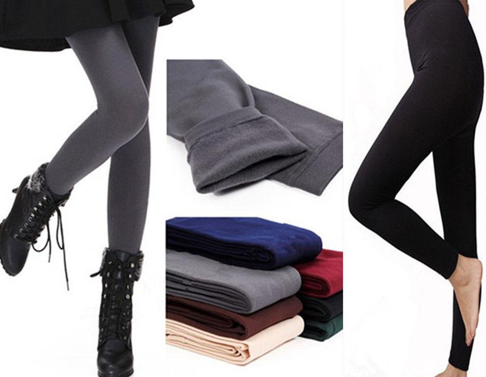 8ea3f8c8a7e19 New Womens Winter Warm Skinny Slim Leggings Stretch Pants Thick ...