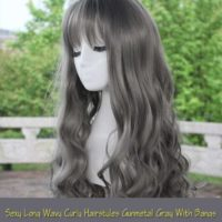 Sexy Long Wavy Curly Hairstyles With Bangs Cosplay Wig