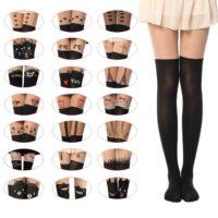 Sexy Tattoo Pantyhose Cute Patterns Sheer Pantyhose Mock Stockings Tights Leggings