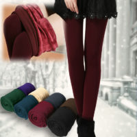 Womens Winter Comfortable Thick Fleece Lined Thick Tights Warm Pants Leggings