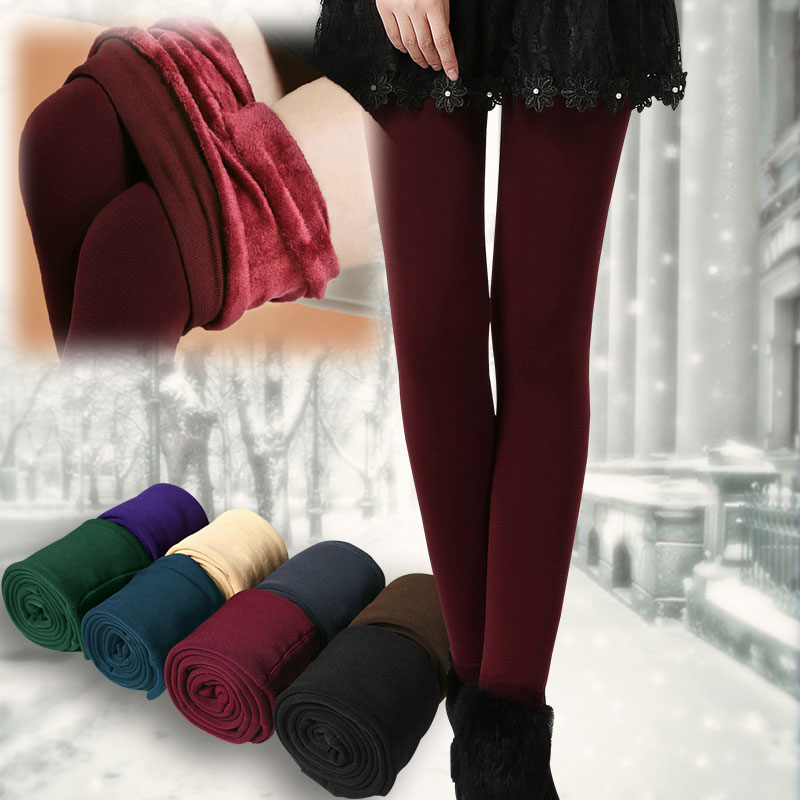 10df7592 Womens Winter Comfortable Thick Fleece Lined Thick Tights Warm Pants  Leggings
