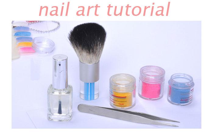 Nail Art Tutorial  - Velvet Flocking Powder