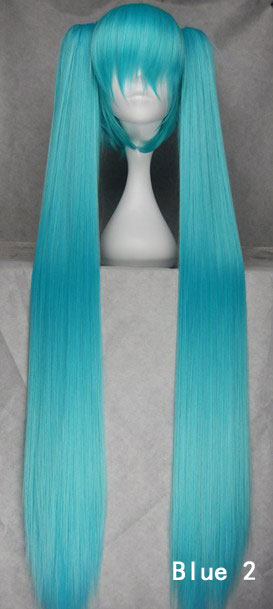 120cm Vocaloid Hatsune Miku Show Anime Costume Cosplay Party Hair Wig