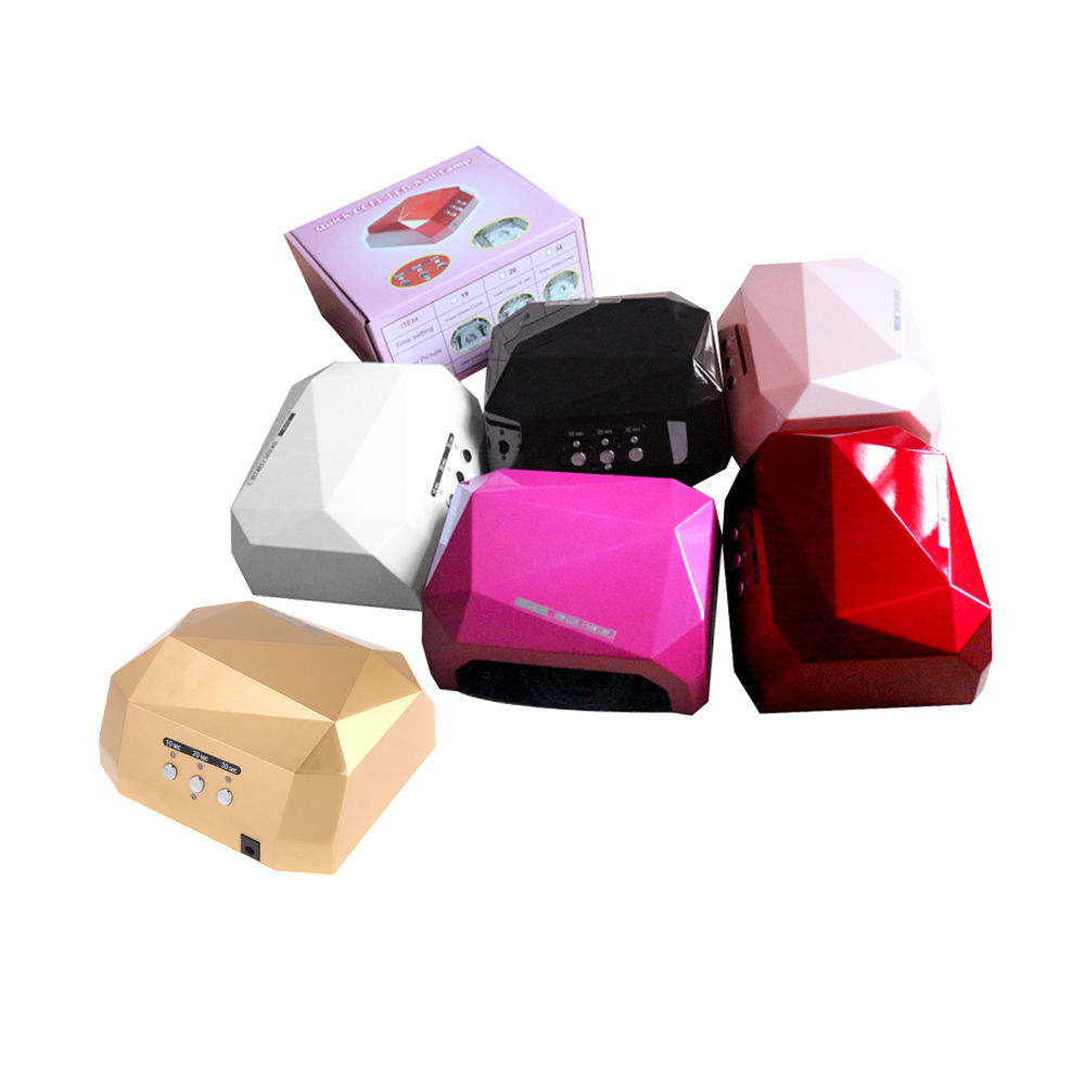 18W / 36W LED CCFL Nail Dryer Diamond Shaped Quick Curing Lamp Machine F UV Gel Nail Polish - Color