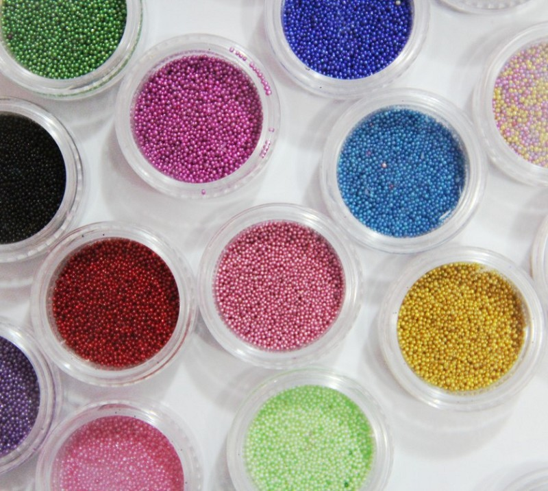24 Color Acrylic UV Gel Glitter Beads Nail Art Decoration Set