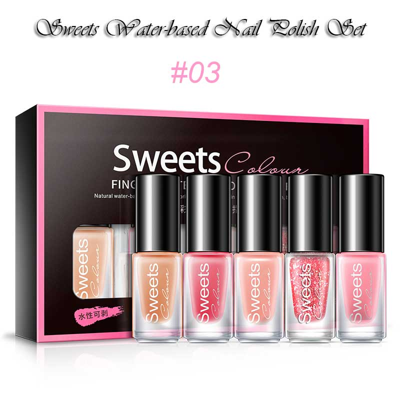 Sweets Water-based Nail Polish Set Easy To Remove