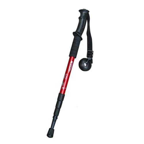 Straight Handle Adjustable Alpenstock AntiShock Trekking Hiking Walking Stick Pole