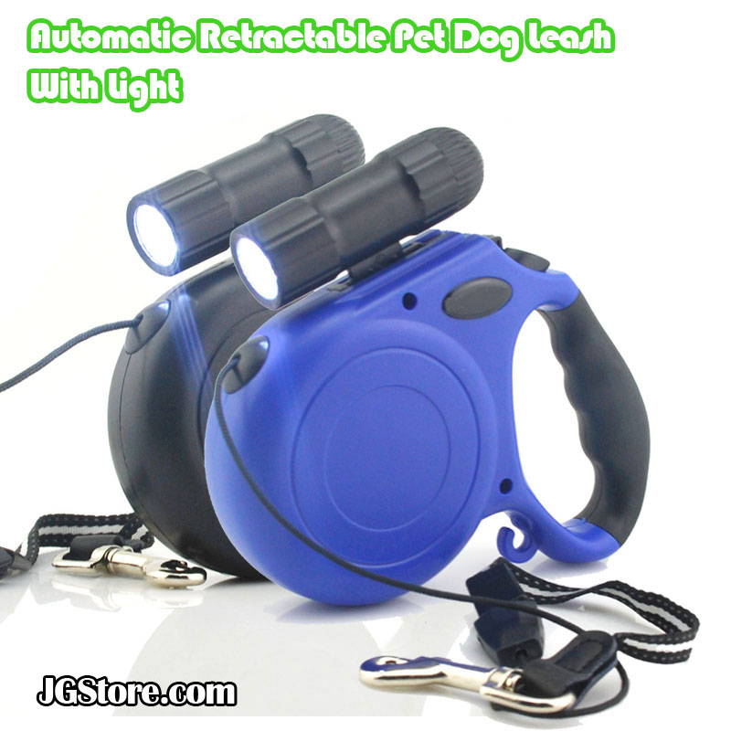 Automatic Retractable 16 ft Pet Dog Leash With Light up to 88 lbs