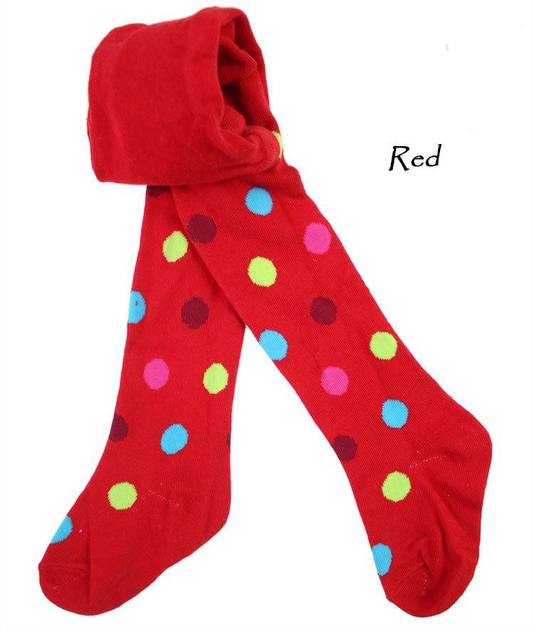 Baby Kids Boy Girl Toddler Tights Pantyhose Pants - Red