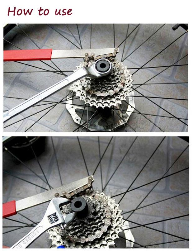 Bike Cassette Chain Whip Freewheel Sprocket Wrench Remover Gripper Tool - How to use