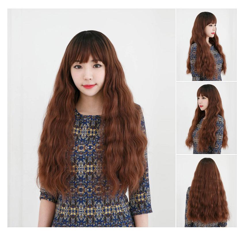 FASHION SEXY WOMENS LONG CURLY WAVY FULL HAIR WIGS