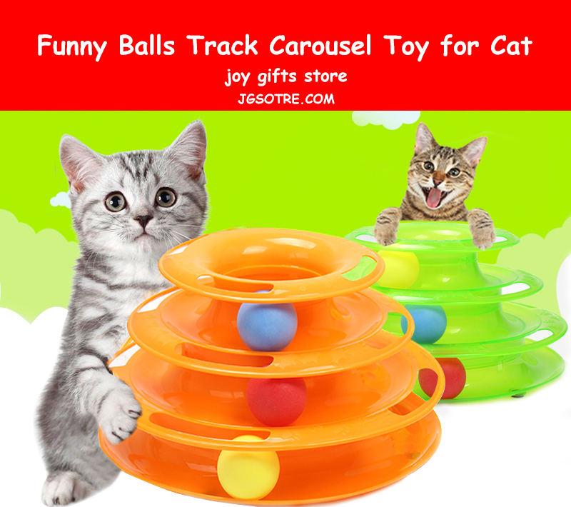 Funny Balls Track Carousel Toy for Cat