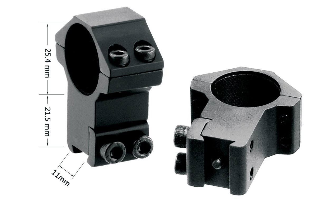 Heavy Duty High Profile 1 inch Scope Rings Fit For 11mm Dovetail Rail Mount