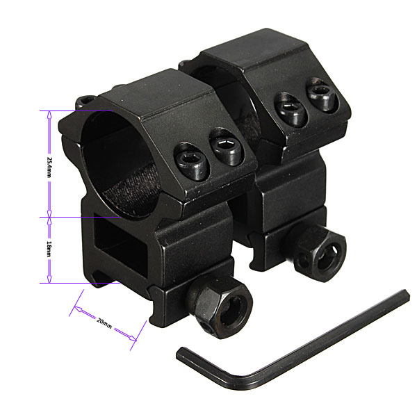 Heavy Duty High Profile 1 inch Scope Rings Fit For 20mm Dovetail Rail Mount