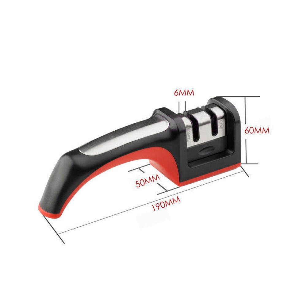 Kitchen Carbide Ceramic 2 Stages Knife Sharpener - Size