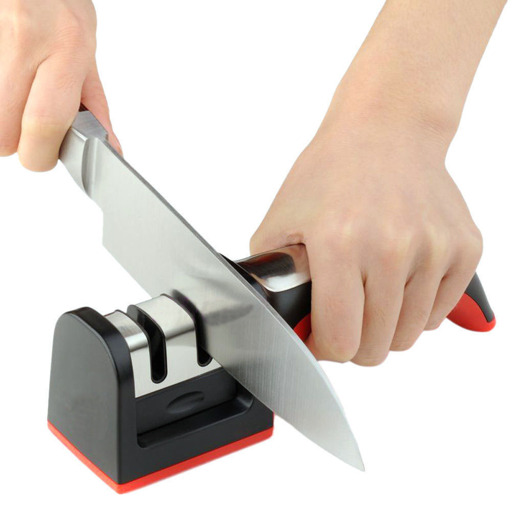 Kitchen Carbide Ceramic 2 Stages Knife Sharpener