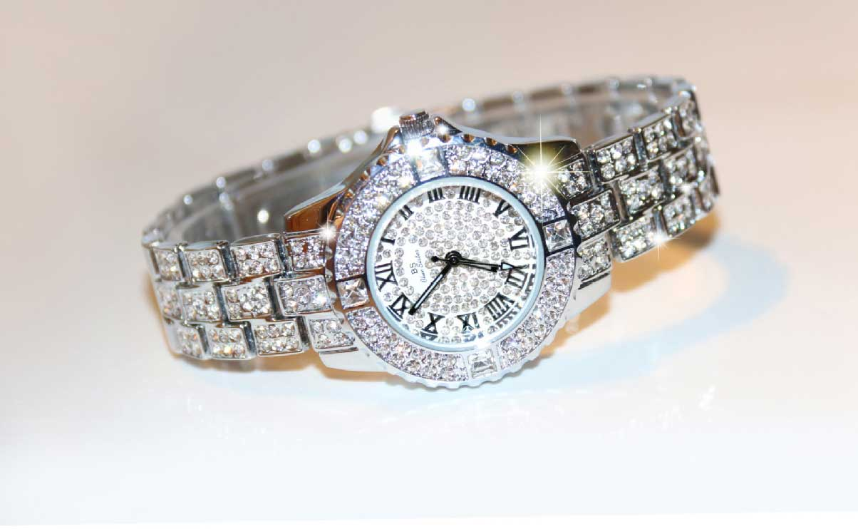 Ladies fashion exquisite full diamond sparkling watch