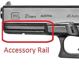 Pistol Mini Picatinny Weaver Rail