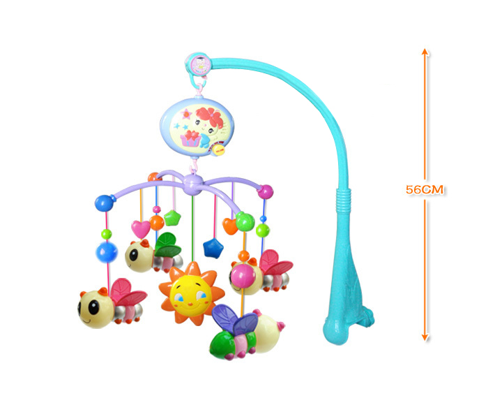 New Happy Bee Baby Musical Crib Mobile