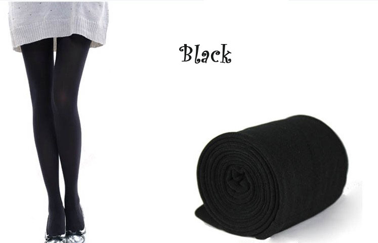 New Womens Winter Warm Skinny Slim Leggings Stretch Pants Thick Tights - black