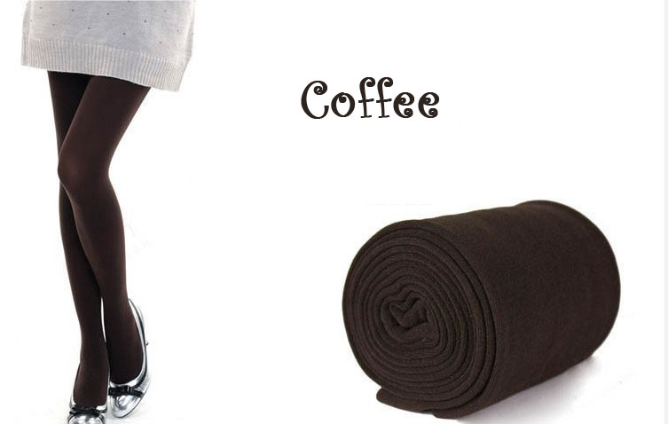 New Womens Winter Warm Skinny Slim Leggings Stretch Pants Thick Tights - Coffee