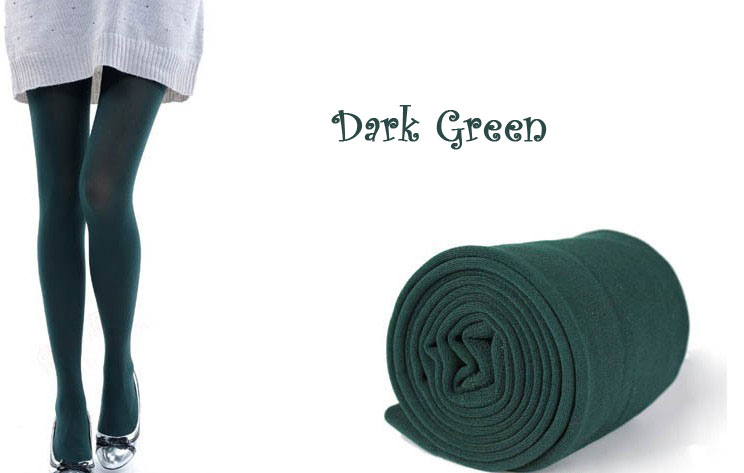 New Womens Winter Warm Skinny Slim Leggings Stretch Pants Thick Tights - dark green