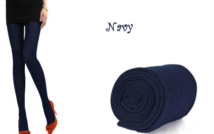 New Womens Winter Warm Skinny Slim Leggings Stretch Pants Thick Tights - navy