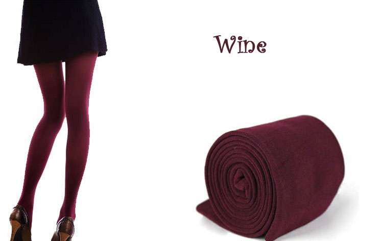 New Womens Winter Warm Skinny Slim Leggings Stretch Pants Thick Tights - wine