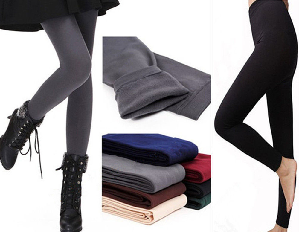 New Womens Winter Warm Skinny Slim Leggings Stretch Pants Thick Tights
