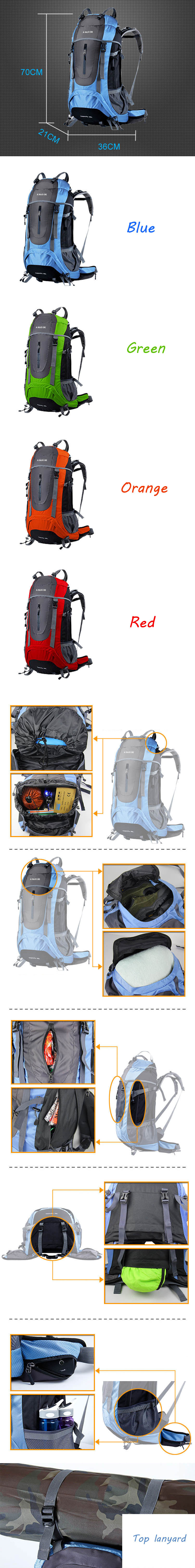 Lowest Price Outdoor Supplies Travel Camping Waterproof Multi-function Mountaineering Bag
