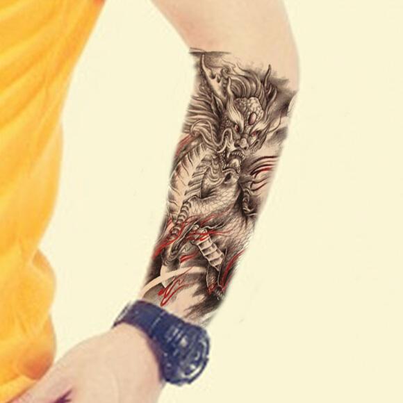 Personality Temporary Tattoo Waterproof Holy Kirin Body Arm Leg Art Stickers