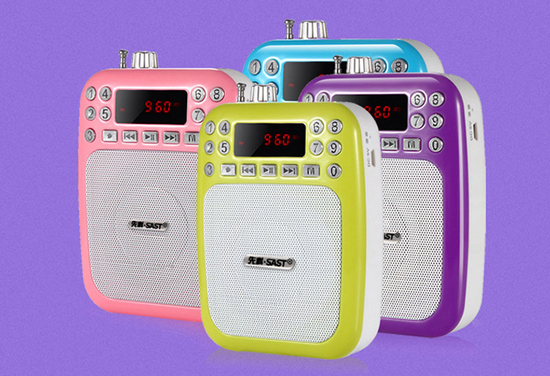 Portable Waist-Band Digital Display Audio Speaker FM Receiver Radio MP3 Sound Box - Color