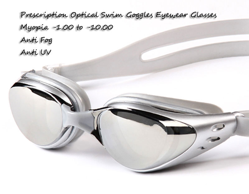 Non-Fogging Anti UV Adjustable Swimming Swim Goggle Glasses