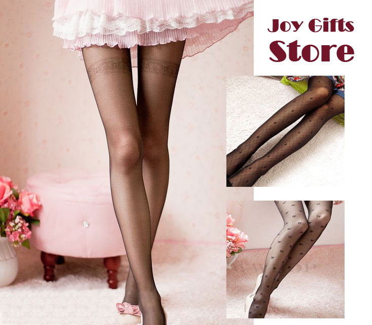 Sexy Black Cute Patterns Sheer Pantyhose Tattoo Pantyhose Mock Stockings Tights