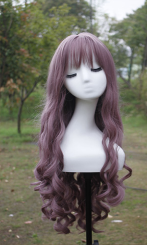 Sexy Long Wavy Curly Hairstyles With Bangs Cosplay Wig - Taro