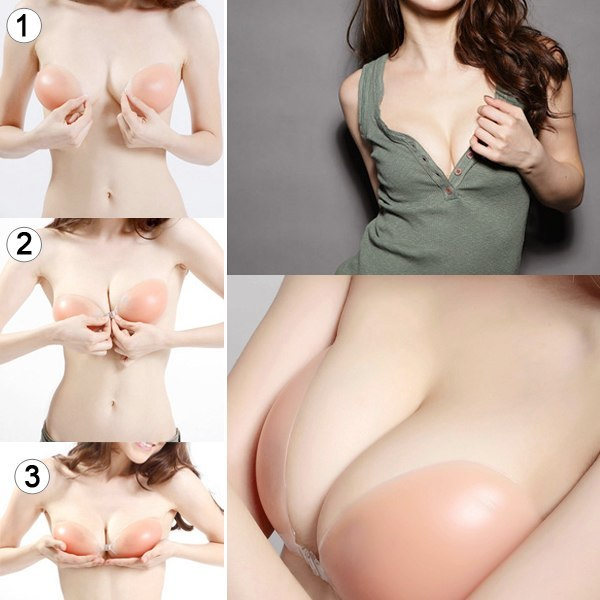 HIGH QUALITY SEXY PUSH UP TNVISIBLE SILICONE ADHESIVE BRAS