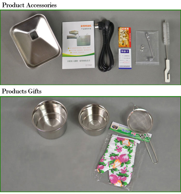 Stainless Steel Automatic Small Home Oil Press Machine - Accessories & Gifts