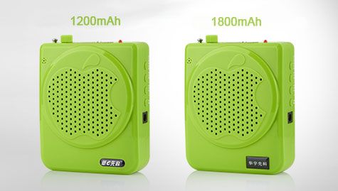 Super Loud Speaker Portable PA System MP3 Player USB / TF CARD / FM Scan Radio - Green