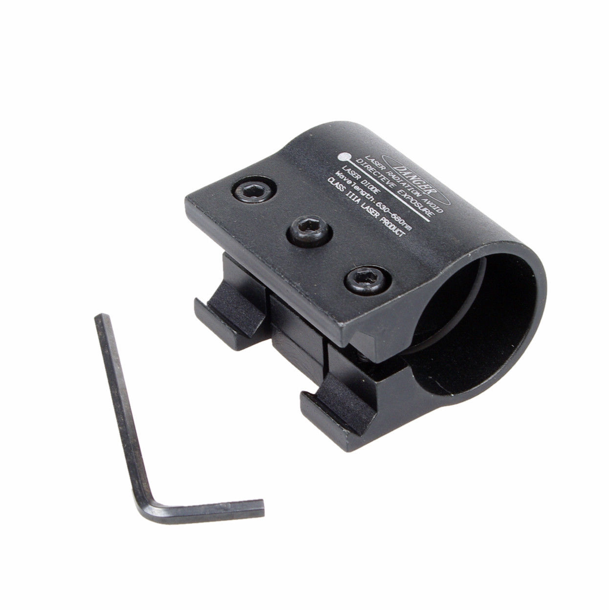 Tactical Rifle 1 inch Ring Hole 20mm Picatinny Weaver Laser Scope Mount Flashlight