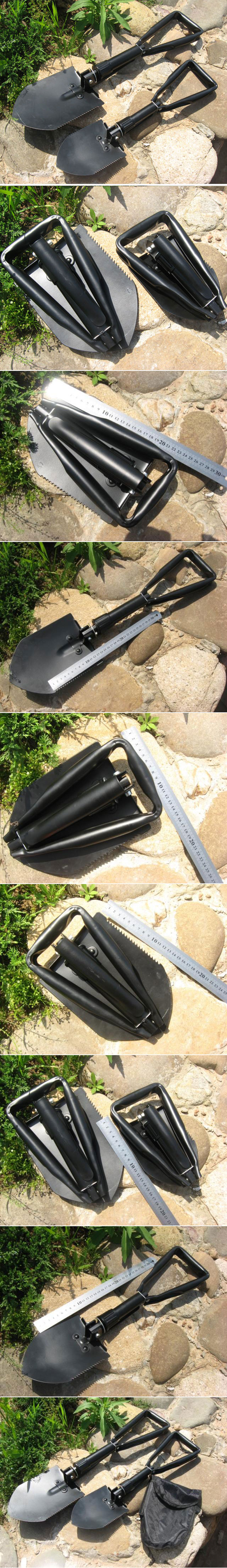 Three Folding Portable Shovel Spade Outdoor Tool