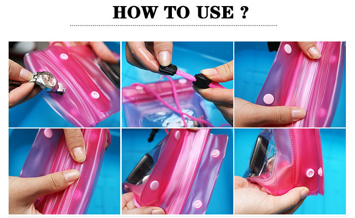 Underwater Pouch Waterproof Bag Dry Case Cover For Mobile Phone / Camera - How to use
