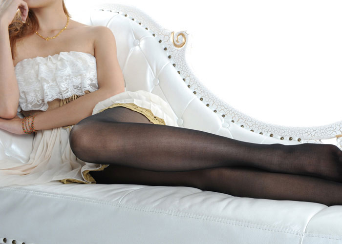 Womens Pantyhose Sheer Tights Stockings - Black